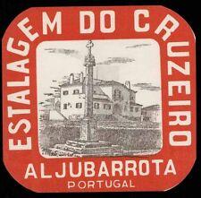 DO CRUZEIRO Hotel old luggage label ALJUBARROTA Portugal