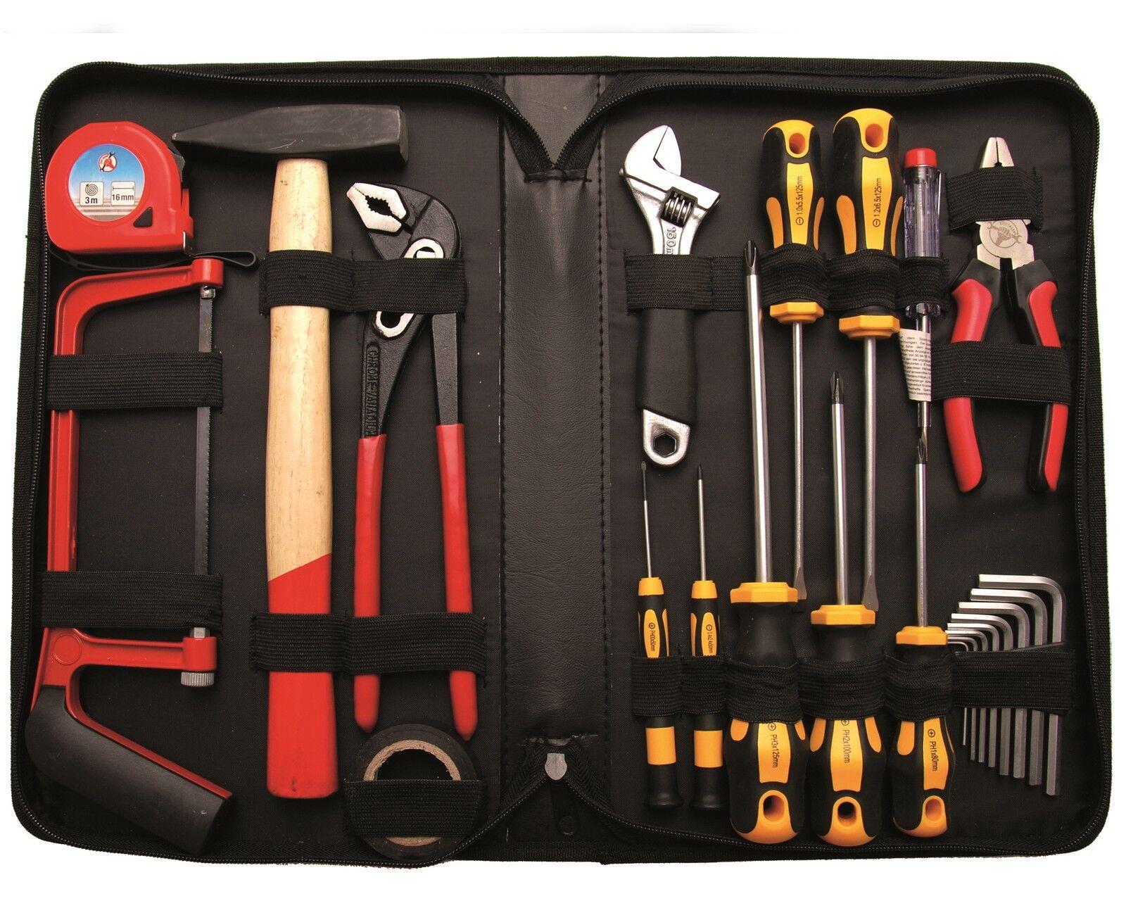 Werkzeug Sortiment Tasche Werkzeuge Zangen Schraubendreher Hammer Schlüssel Säge