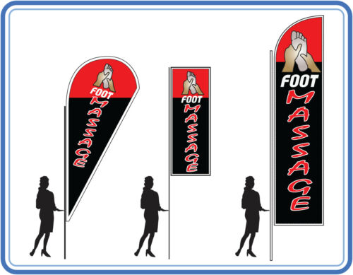 Foot massage flags , great for massage parlous Massage flags Banners UK 1