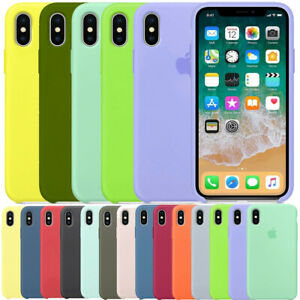FUNDA PARA APPLE IPHONE XR X XS MAX ORIGINAL SILICONA CARCASA OEM