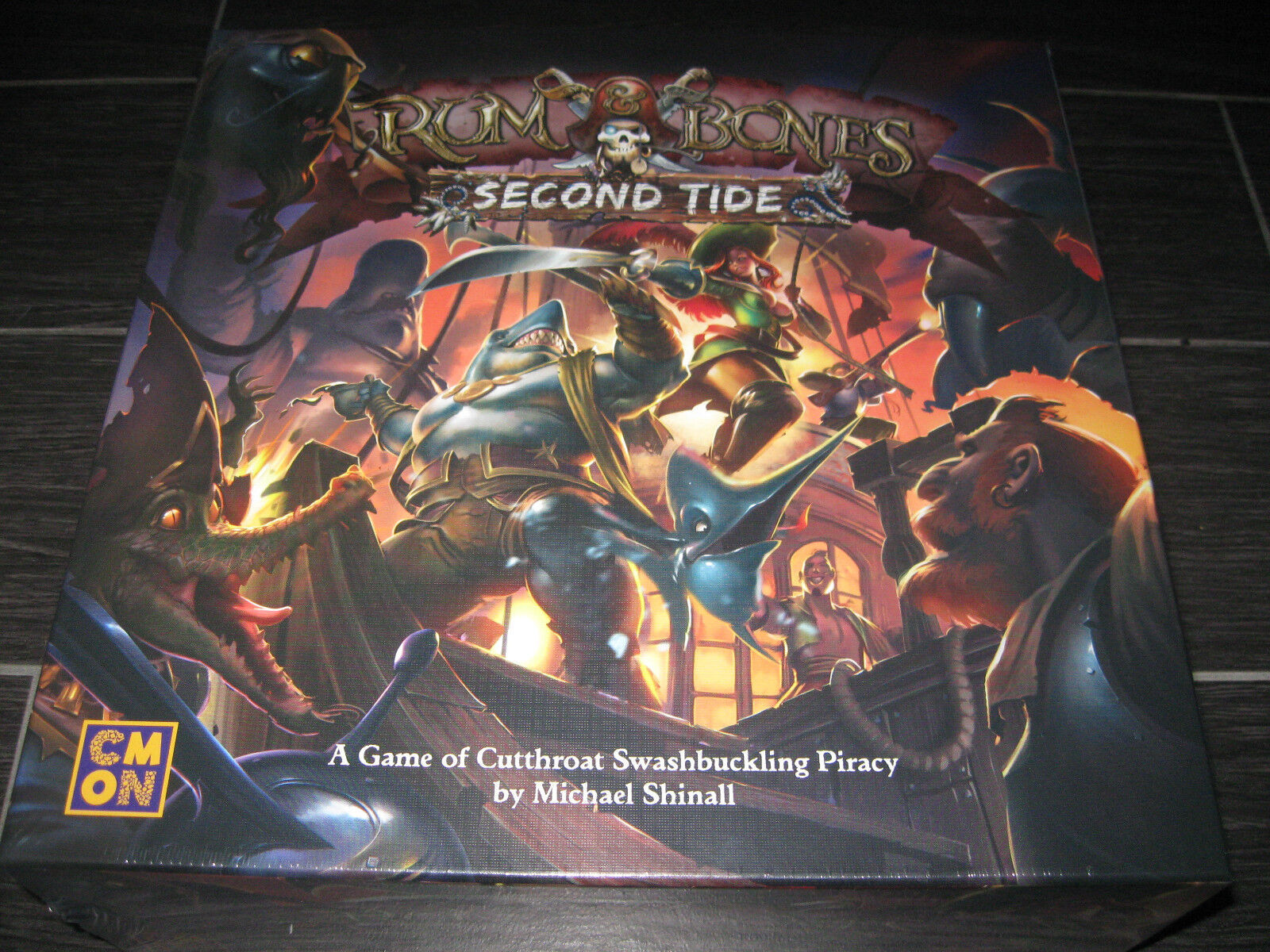 New RUM & BONES 2nd Second Tide Board Board Board Game CMON IN HAND Ready to Ship f422b3
