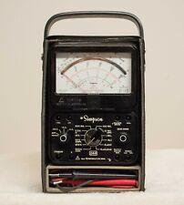 Simpson 260 Series 7 Pm Multimeter Black Hard Shell Case Ec