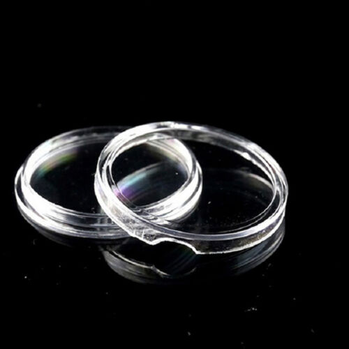 10X 23mm Applied Clear Round Cases Coin Storage Capsules Holder Round Plastic Kc