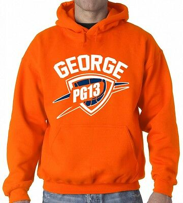 "Paul George Oklahoma City Thunder /""King George/"" jersey shirt Hooded SWEATSHIRT"