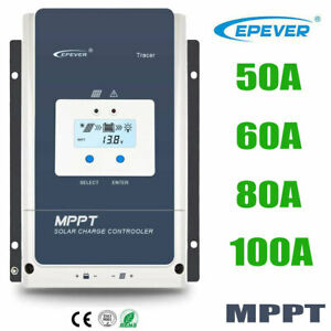 EPEVER 60A 80A 100A MPPT Solar Charge Controller Regulator 12//24//36//48V 150//200V