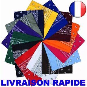 Bandana-Foulard-100-COTON-Headwrap-Kopftuch-Hip-Hop-Bande-Cheveux-Echarpe-Cou