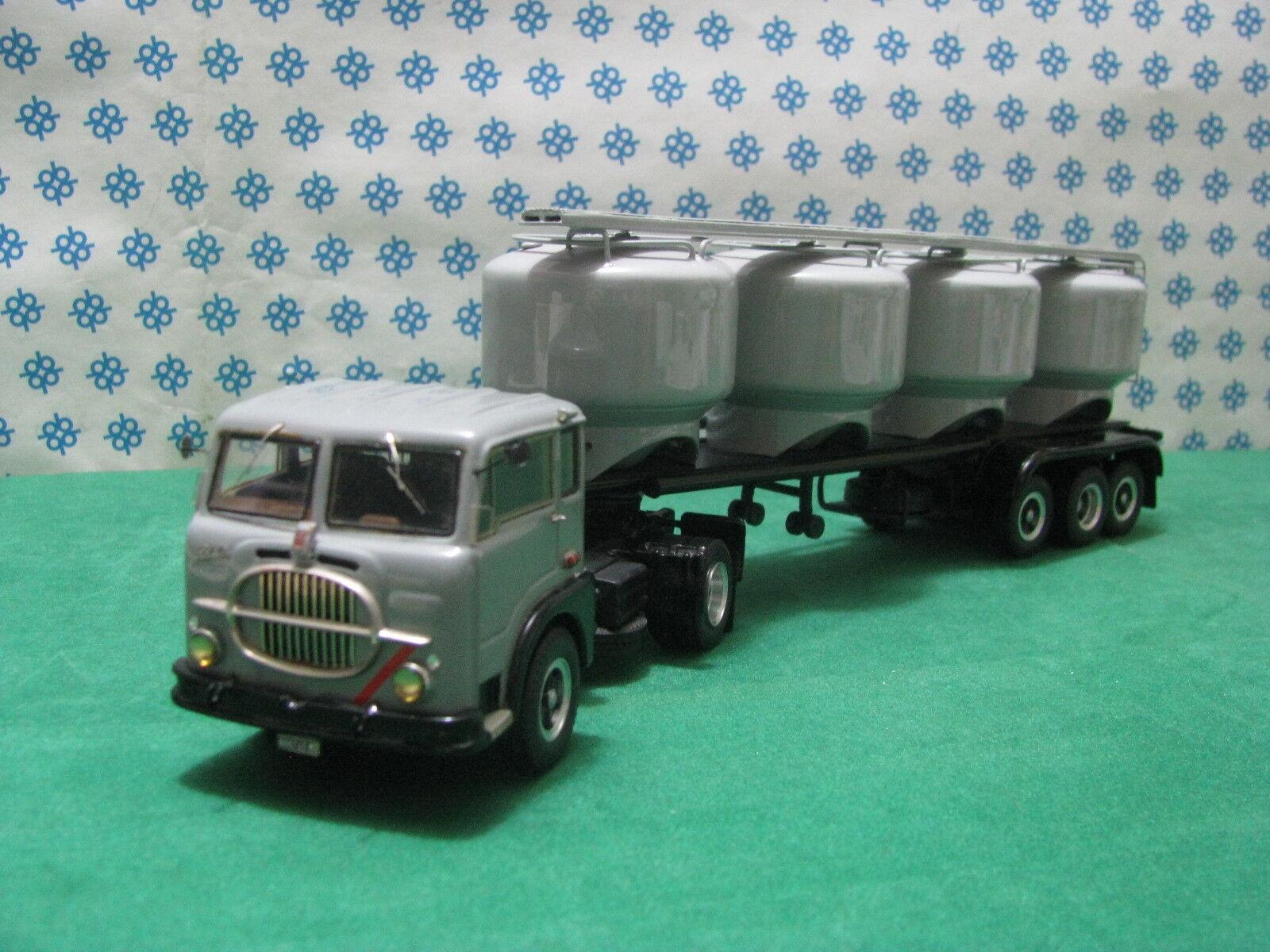 FIAT 682 T3 Semi-remorque 3 Axes avec Silos pour Ciment -1 43 CB Modelli Gila