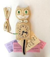 VINTAGE ELECTRIC 60s KIT CAT KLOCK-KAT CLOCK-ORIGINAL MOTOR REBUILT-W/BRASS GEAR
