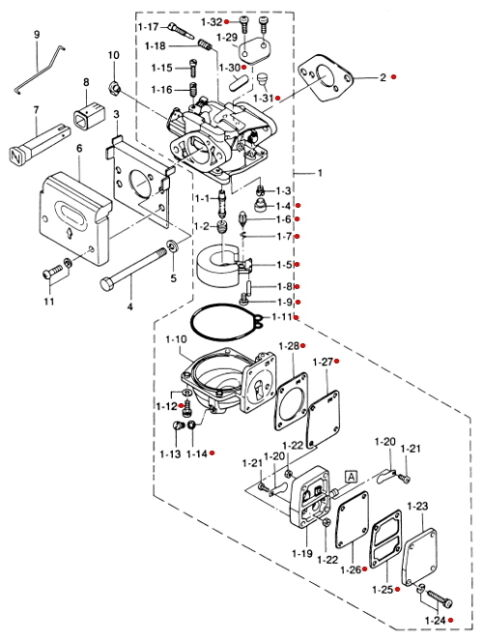 Tohatsu Carburetor Diagram