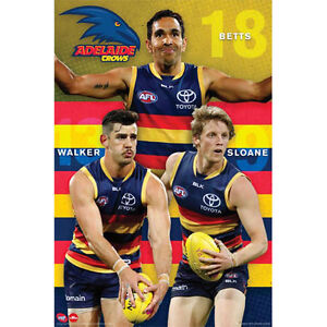 AFL-Adelaide-Crows-Players-POSTER-61x91cm-NEW-Betts-Walker-Sloane-Footy