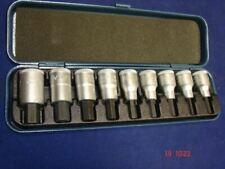 """Teng 1//2/"""" 9pc hex clé allen bit metric socket clip rail set 5-17mm M1212"""