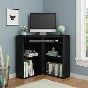 Details about Corner Desk Top Set Shelf Small For Living Room Space Saving  Computer Bedroom
