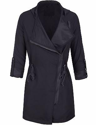 Fashion Women's Military Anorak Safari Jacket with Waist Drawstring-317-420