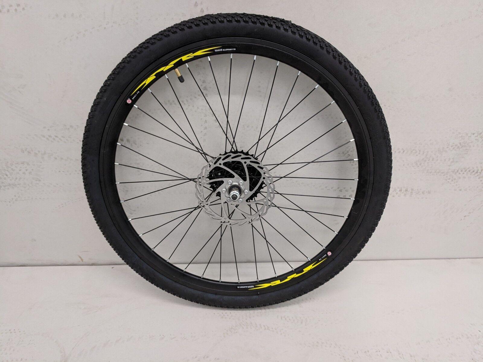 26 26 26   Komplett Hinterrad mit Reifen,8 Gang Shimano Kassette,160mm Scheibenläufer 76a4f1