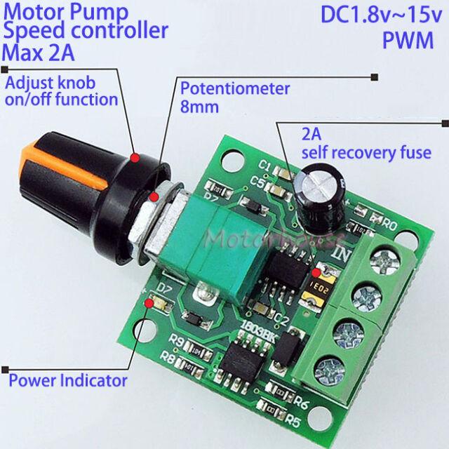 DC 3V 5V 6V 12V 2A Micro Mini Motor Pump Low Voltage Speed Controller Regulator