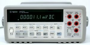 HP-Agilent-34401A-Digital-Multimeter-6-Digit-Tested-amp-Spot-on-Leads-Clean