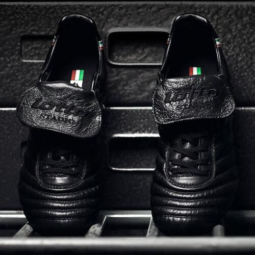 Negro  DIR0078  10213655 Botas de fútbol Lotto Stadio Made in Italy FG