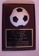 CUSTOM SOCCER BALL AWARD PLAQUE  3D 5X7 WALL MOUNT FREE ENGRAVING FREE SHIPPING