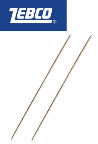 Angelnadel für Tauwürmer Zebco 20cm Wurmnadeln 2 Ködernadeln Messing