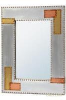 Dusx Industrial Style Aluminium & Copper Decorative Wall Bedroom Hall Mirror