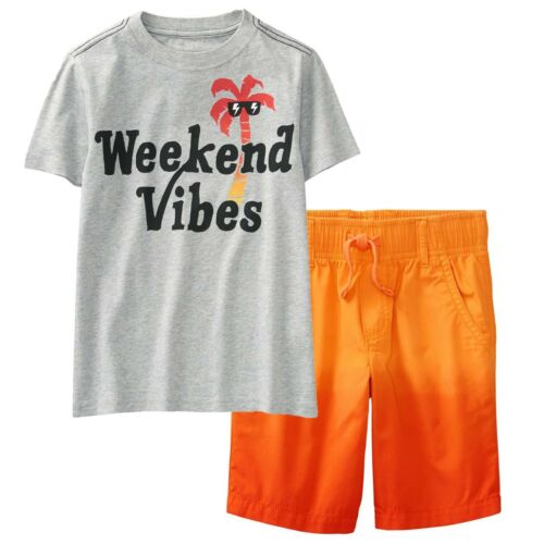 NWT Gymboree Boys Size 8 10 Weekend Vibes Tee Shirt /& Ombre Pull-On Shorts SET