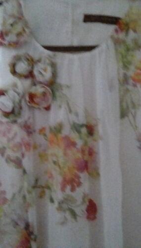 Dress Cream Woman Silk Feminine Floral Sleeveless Szl Pure Zara TxBPY7qqw