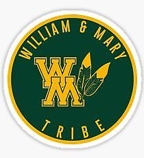 William and Mary vinyl sticker for skateboard luggage laptop tumblers car c