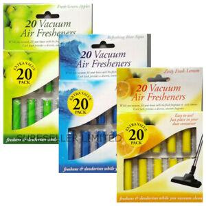 20pk Vacuum Scented Air Freshners Hoover Dust Bags Filters Cleaner Freshener Vac
