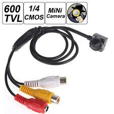 Mini Smallest Camera 600TVL Pinhole CCTV Hidden Covert Video Audio AV Camera