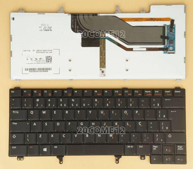 for DELL Latitude E5420 E5430 E6220 Keyboard Teclado Backlit Brazil Portuguese