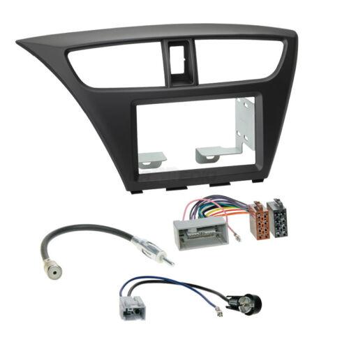 Autoradio Kit de montage 2-din Honda Civic à partir de 12 Câble d/'installation Cadre Noir