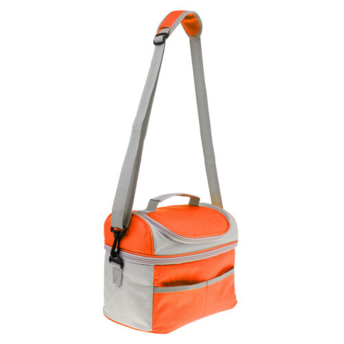 Details about  /Insulated Thermal Bag 2-layer Picnic Lunch Box Portable Cooler Tote Orange