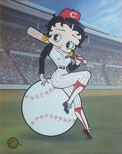 Cincinnati-Reds-034-Betty-Boop-On-Deck-034-Limited-Edition-SERICEL-Paramount