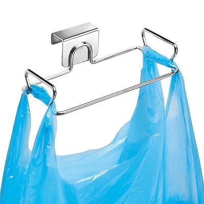 Steel Over Cabinet Door Garbage Plastic Bag Holder Bracket Stand Hanger Kitchen