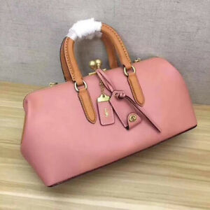 Authentic-Coach-1941-KissLock-Satchel-38-in-Colorblock-Leather-21818