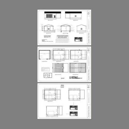 -- 720 SQFT PDF floor plan Modèle 10K 30x24 2-Car Garage avec un abri