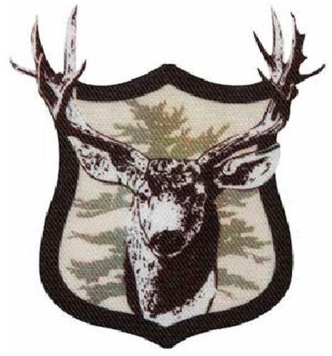 Aufbügelmotiv ♥ Patch♥ Hirsch Wappen ♥ Aufbügler ♥ Applikation NEU