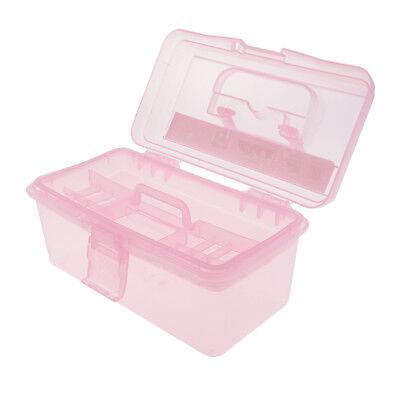 2 x MultiFunctional Storage Home Toolbox Child Pink Storage Box