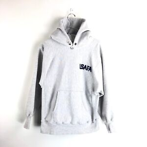 1aa390e5eb1 Vintage 80s USAFA Champion Reverse Weave Hoodie Size Large Mens Gray ...