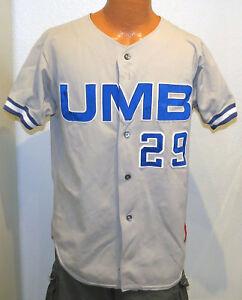 vtg-UMASS-BOSTON-BASEBALL-29-Team-Issue-JERSEY-sz-44-UMB-Rawlings-80s-90s-Large