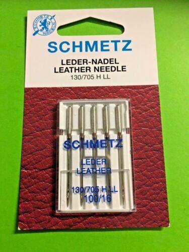 5 Nähmaschinen Nadeln SCHMETZ Leder Nadel 130//705 H Stärke 100//16