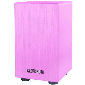 KEEPDRUM DC1M-PK Junior Cajon für Kinder Trommelhocker Pink