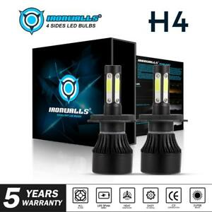H4-4-Sides-LED-Headlight-Bulb-Upgrade-Kit-for-Toyota-Hilux-Ute-4X4-High-Low-Beam