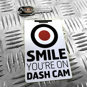 1X-SMILE-YOU-039-RE-ON-DASH-CAM-FUNNY-CAR-STICKER-DECAL-YOUNG-DRIVER-BUMPER-VINYL