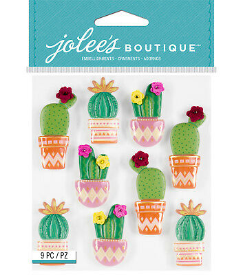 Glitter Cactus Cacti Repeats 2 Designs LP 3D Stickers