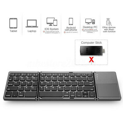 78d77858a88 Details about Ultra Thin Wireless Folding Touch 3.0 bluetooth Keyboard For  Samsung Dex Station