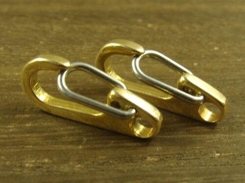 "1/"" Solid Brass Snap Spring Hook Keychains Hook Clip Key Holder 26mm"
