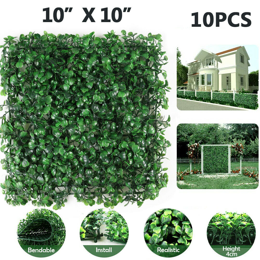 Artificial Grass Boxwood Hedge Fence Screen Greenery Panels Mat Garden Decor For Sale Online Ebay