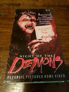 Night Of The Demons VHS Tape 1987 Horror Movie Halloween ...
