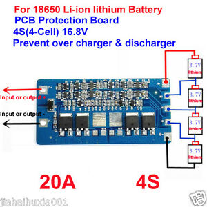 4S-20A-Li-ion-Lithium-18650-Battery-BMS-Protection-PCB-Board-14-8V-16-8V-Cell